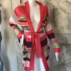 Missoni long knit belted cardigan